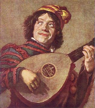 Jester with Lute - painting by Frans Hals