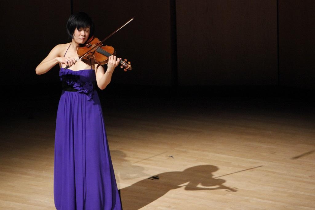 Jennifer Koh. Photo courtesy of Pick-Staiger Concert Hall. Photo by Christina Walker.