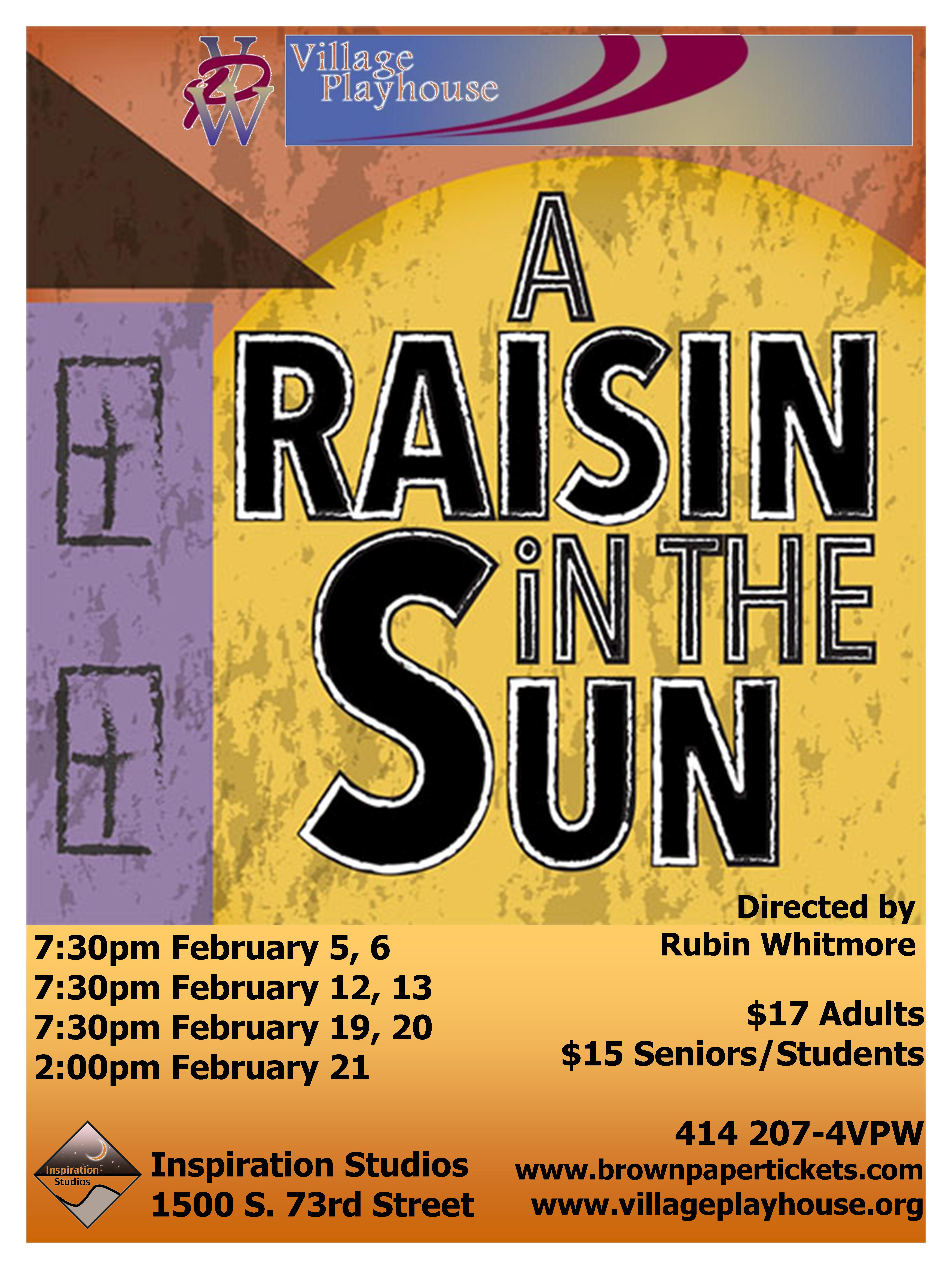 a raisin in the sun 7 Walter believes he needs to spend money in order to gain money and, in this case, he means to spend money on a bribe to help get his liquor license it seems like walter's poverty has helped to make him perfectly willing to be a little shady in his business dealings walter resents beneatha's wish.