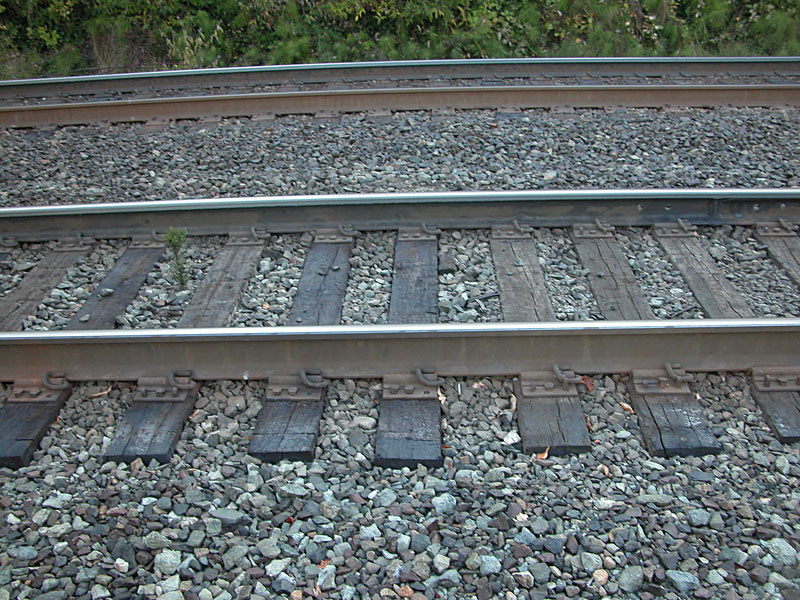 Railroad Tracks. Photo in the public domain.