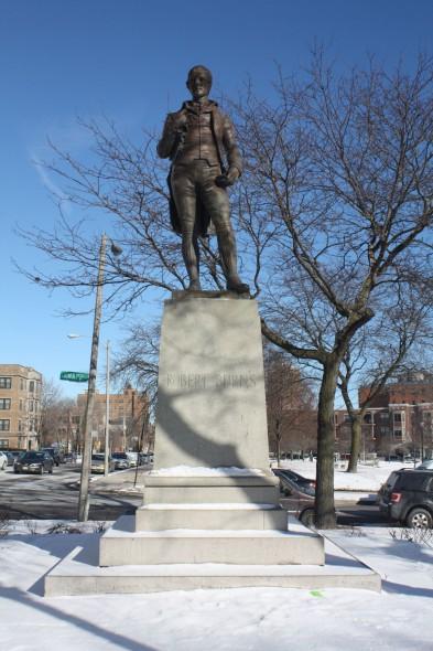 Robert Burns statue. Photo by Carl Baehr.