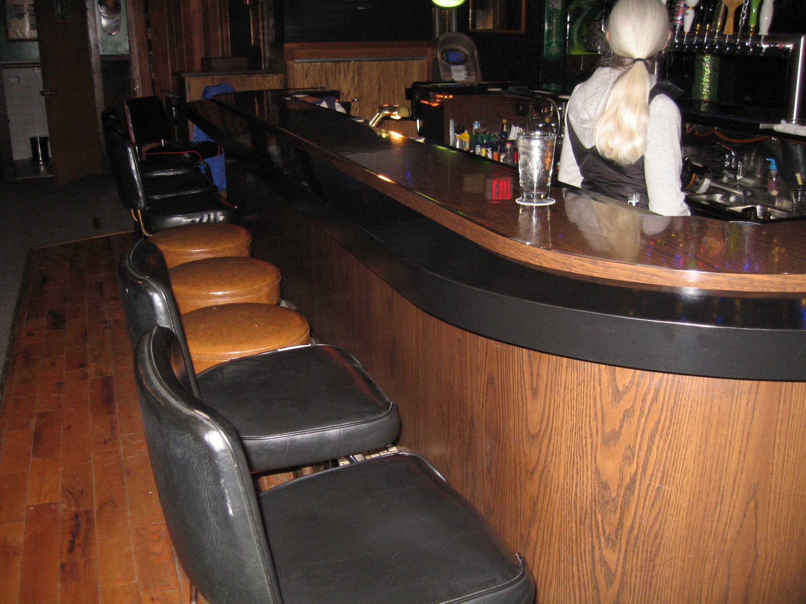 The bar at Conway's. Photo by Michael Horne.