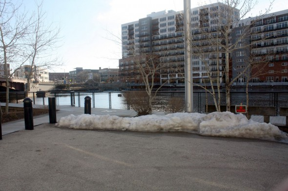 Site of the Dousman Dock. Photo by Carl Baehr.
