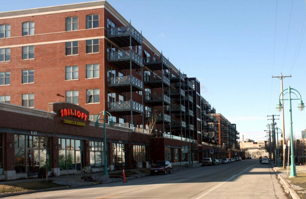 View up E. Erie Street. Photo by Carl Baehr.