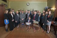Gov. Walker signing a bill.