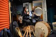 Nina Stern, recorder and Glen Velez, frame drum artist