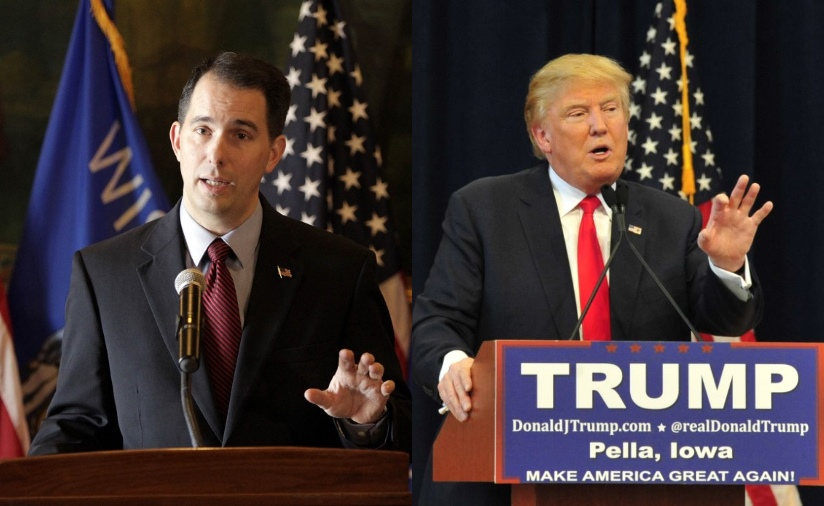 Scott Walker and Donald Trump.