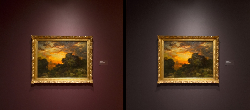 Popular The wine colored wall on the left drains Thomas Moran us landscape of its depth and spectral clarity pared to the photoshopped version of the