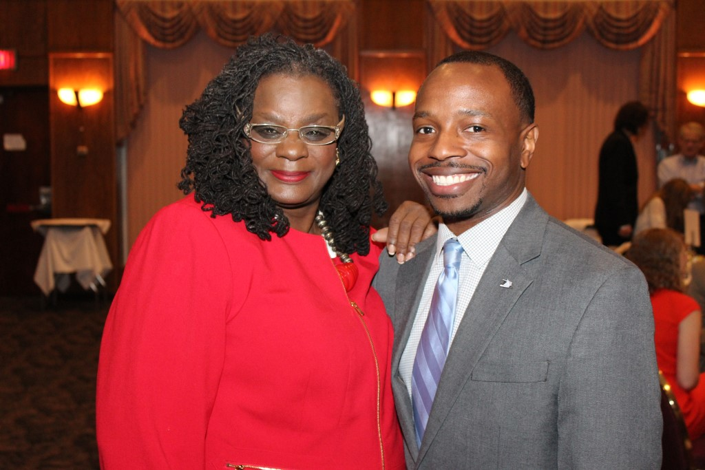 Gwen Moore and Chevy Johnson. Photo courtesy of Chevy for Milwaukee.