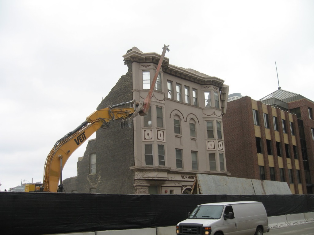 The Vermont is soon to be rubble. Photo by Michael Horne.