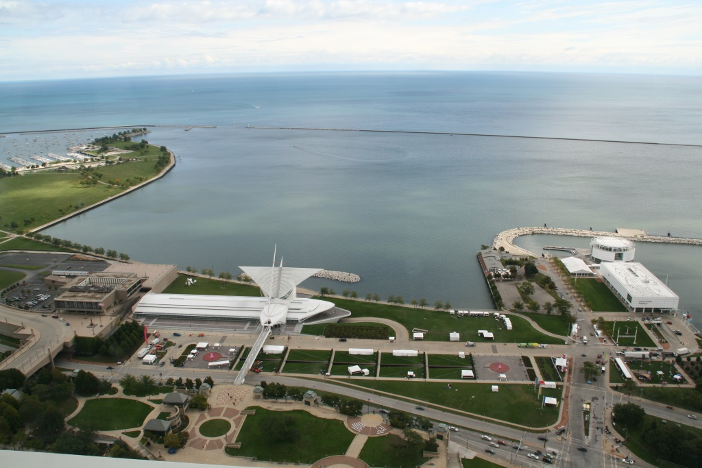 O'Donnell Park and Milwaukee Art Museum. Photo by Jeramey Jannene.