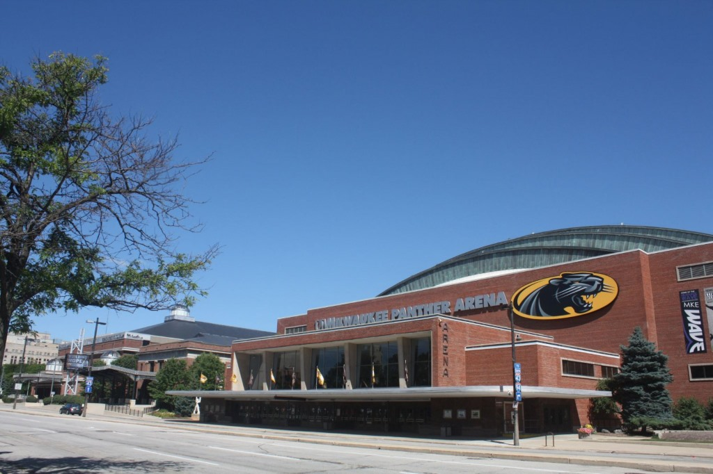UWM Panther Arena. Photo by Carl Baehr.