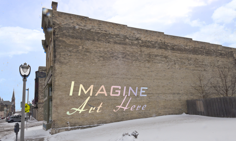 """""""Imagine Art Here."""" Photo courtesy of the Walker's Point Center for the Arts."""