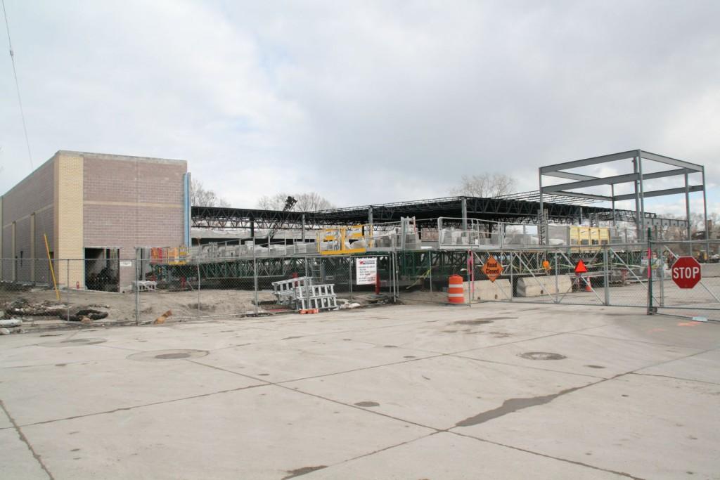 Freshwater Plaza Construction. Photo by Jeramey Jannene.