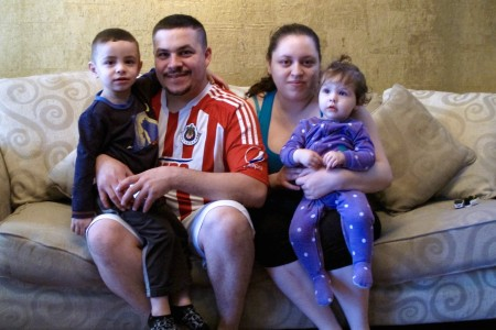 Armando Martinez and Ana Sanchez live with their children, Christopher and Melanie Martinez, on the South Side. Photo by Wyatt Massey.
