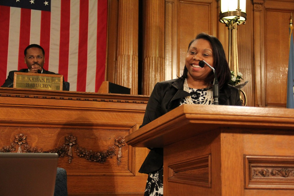 Chantia Lewis Inauguration Speech (Photo by City of Milwaukee)