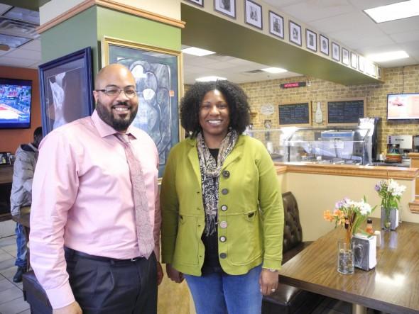 Keisha Krumm and Pastor Will Davis. Photo by Laura Thompson.