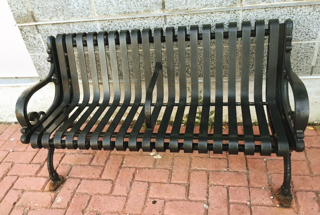 A bench. Photo by Tom Bamberger.