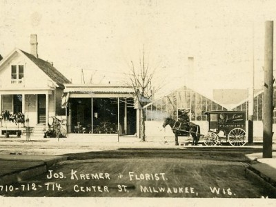 Yesterday's Milwaukee: Florist's Horse-Drawn Wagon, 1910