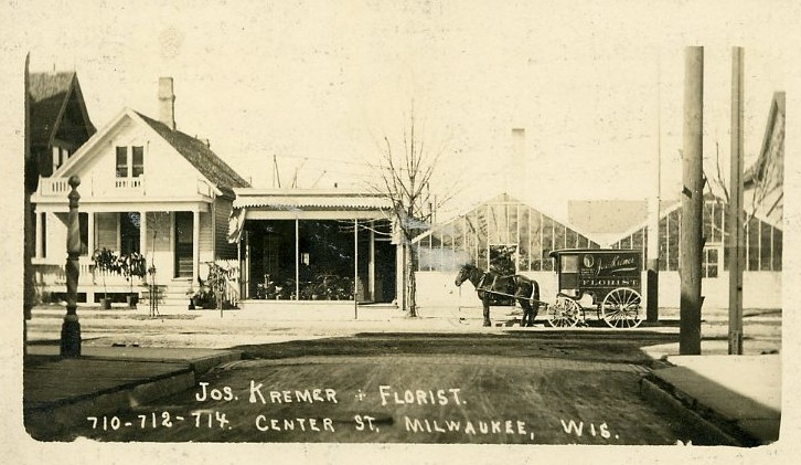 Florist's Horse-Drawn Wagon, 1910. Image courtesy of Jeff Beutner.