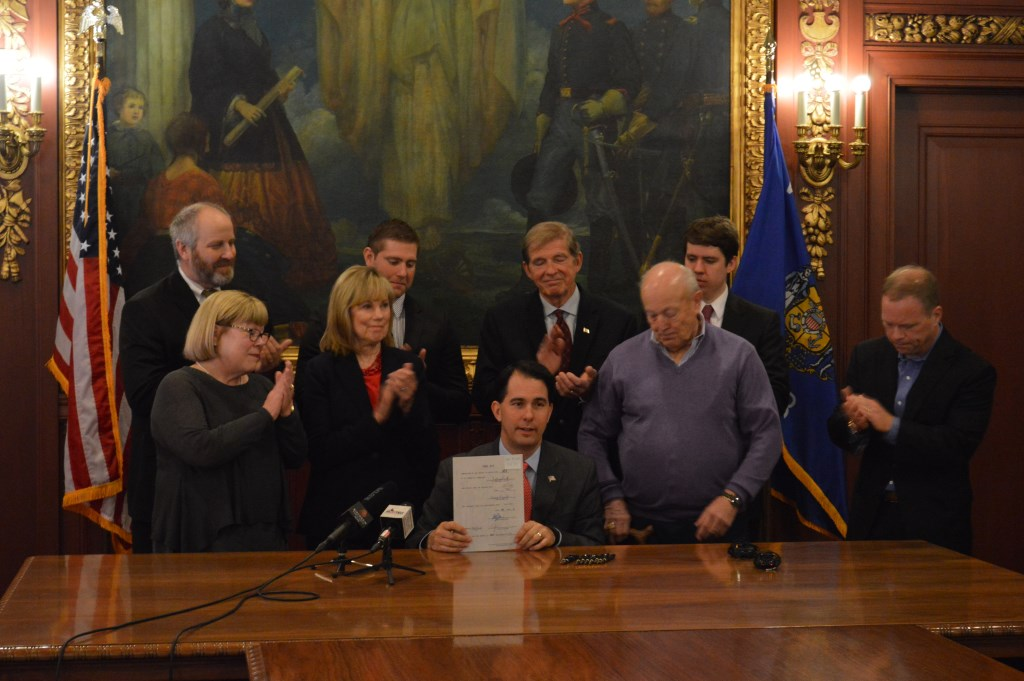 Governor Walker Signs Bill to Crack Down on Repeat Drunk Drivers. Photo from the State of Wisconsin.
