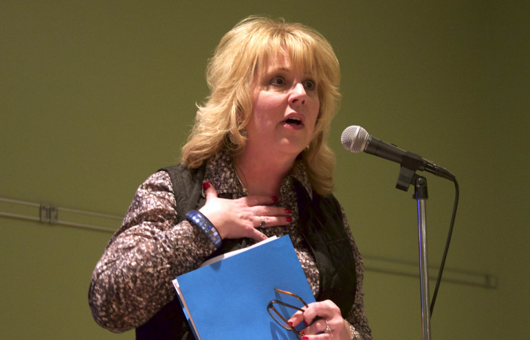 "Wisconsin Department of Natural Resources Secretary Cathy Stepp, seen here in a 2015 file photo, has announced the state will begin subsidizing the cost of replacing lead service lines in ""disadvantaged"" Wisconsin communities. Photo by Kate Golden of the Wisconsin Center for Investigative Journalism."
