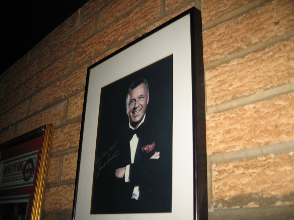 Framed picture of Frank Sinatra. Photo by Michael Horne.