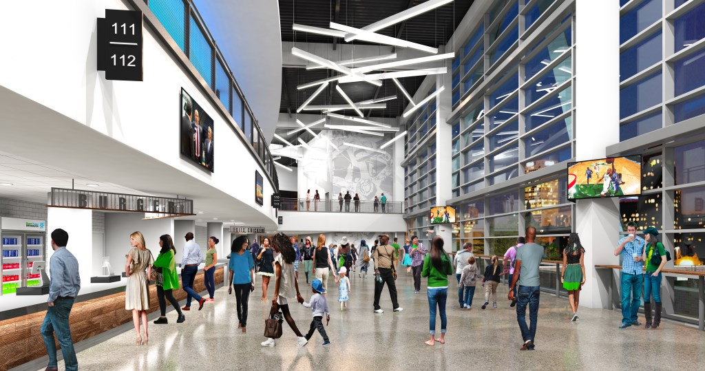 Interior Rendering of the New Bucks Arena