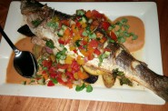 Roasted Bronzino. Photo by Rose Balistreri.