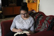 Lismari Montes, 15, enjoys reading as a way to cope with her depression. Photo courtesy of NNS.