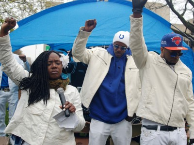 Crowd Gathers for Justice, Better Policing