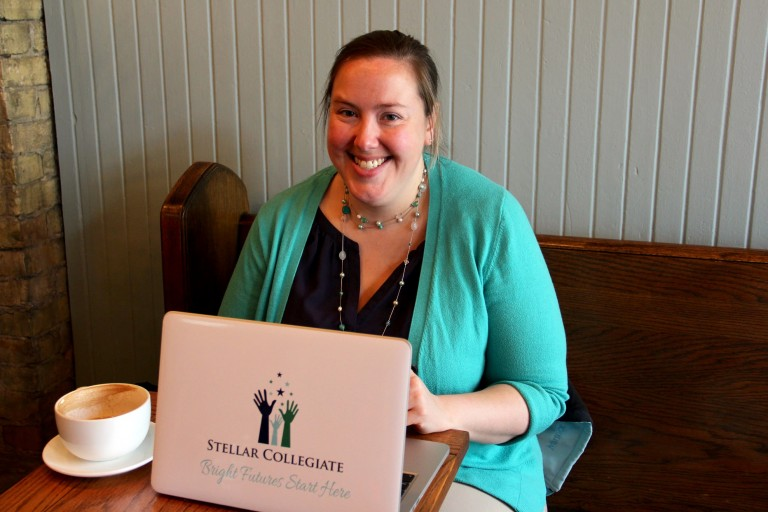 Melissa McGonegle, the school director of Stellar Collegiate, has been working for about two years to open the school. Photo by Sophia Boyd.