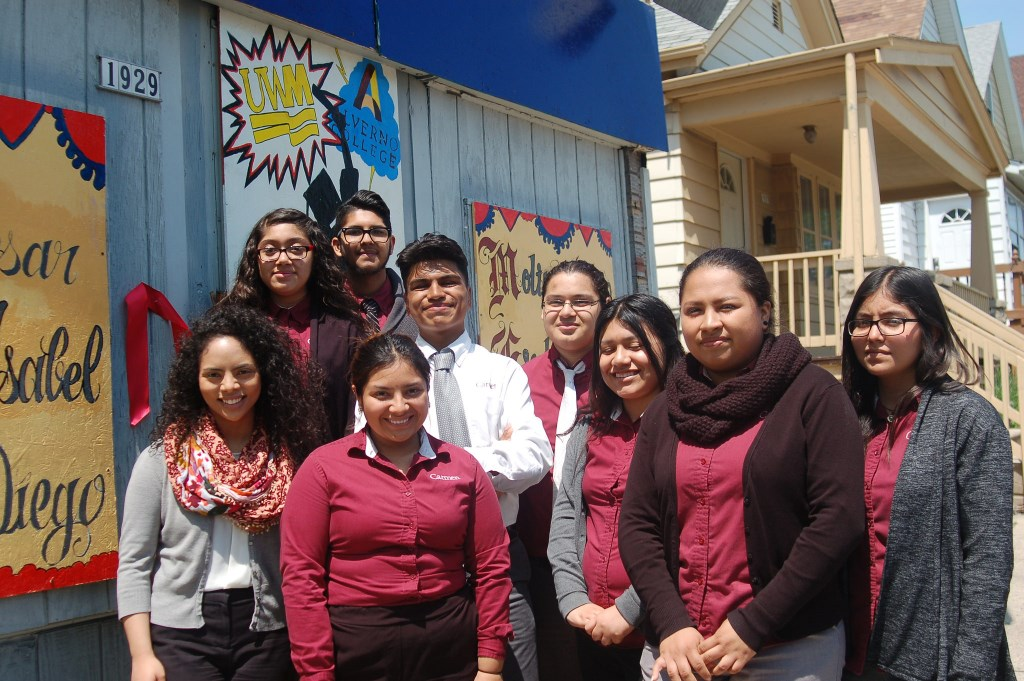Members of the Carmen High School of Science and Technology's Safe and Sound Youth Council worked for two months to complete the mural project. Photo by Edgar Mendez.