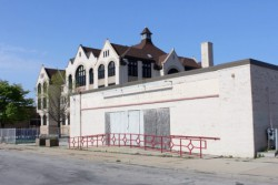 Milwaukee's Black Holocaust Museum (foreground) may reopen as a tenant in a new building to be constructed on and around its current site. Photo by Mark Doremus.