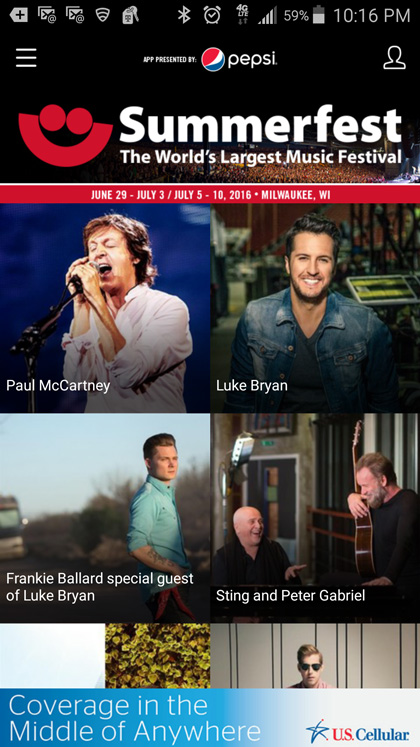 Summerfest Launches New and Improved 2016 Mobile App
