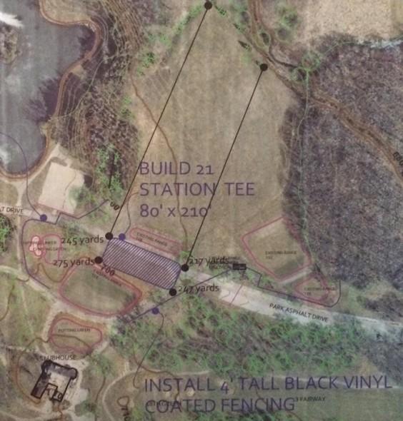 Brown Deer Park Driving Range Expansion Plans.