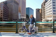 Megan Gaus. Photo courtesy of Bublr Bikes.