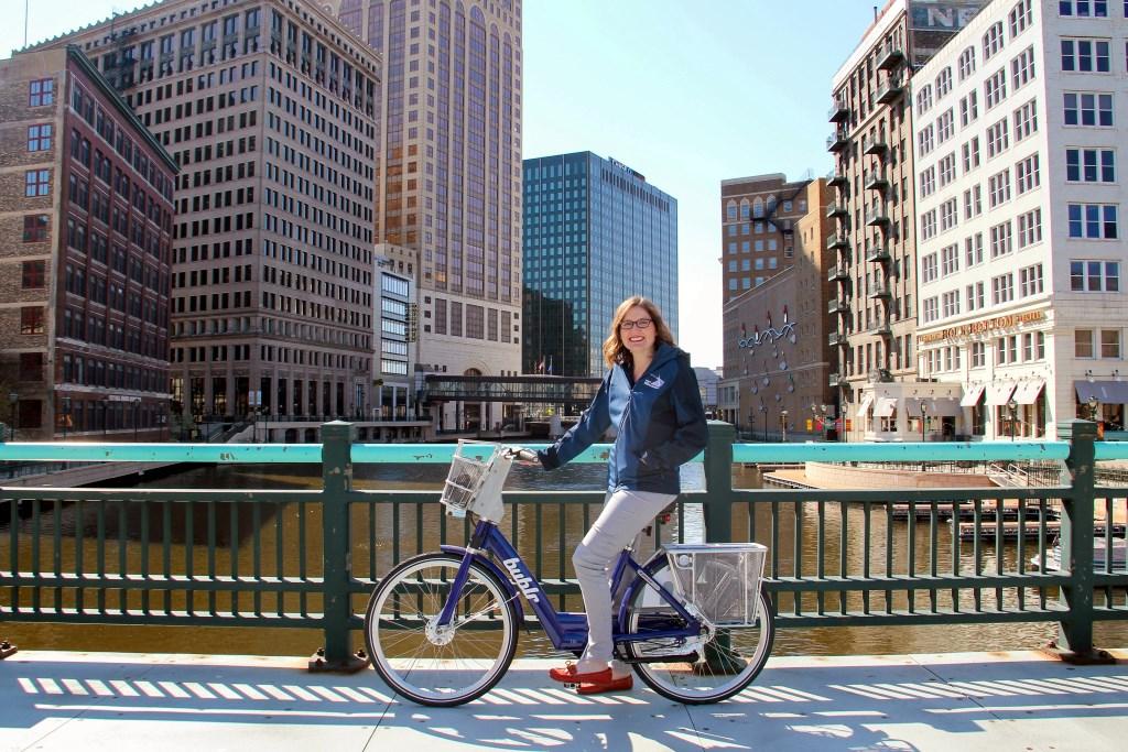 Megan Gaus. Photo courtesy of Bublr Bikes.