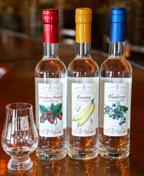 Fruit Brandy. Photo courtesy of Great Lakes Distillery.