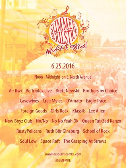 Summer Soulstice Music Festival Announces 2016 Lineup