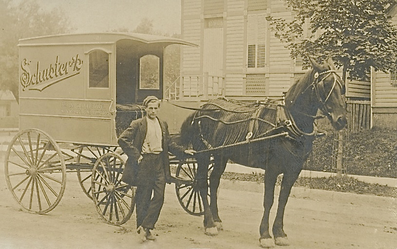 Schuster's Delivery Wagon, 1908. Image courtesy of Jeff Beutner.