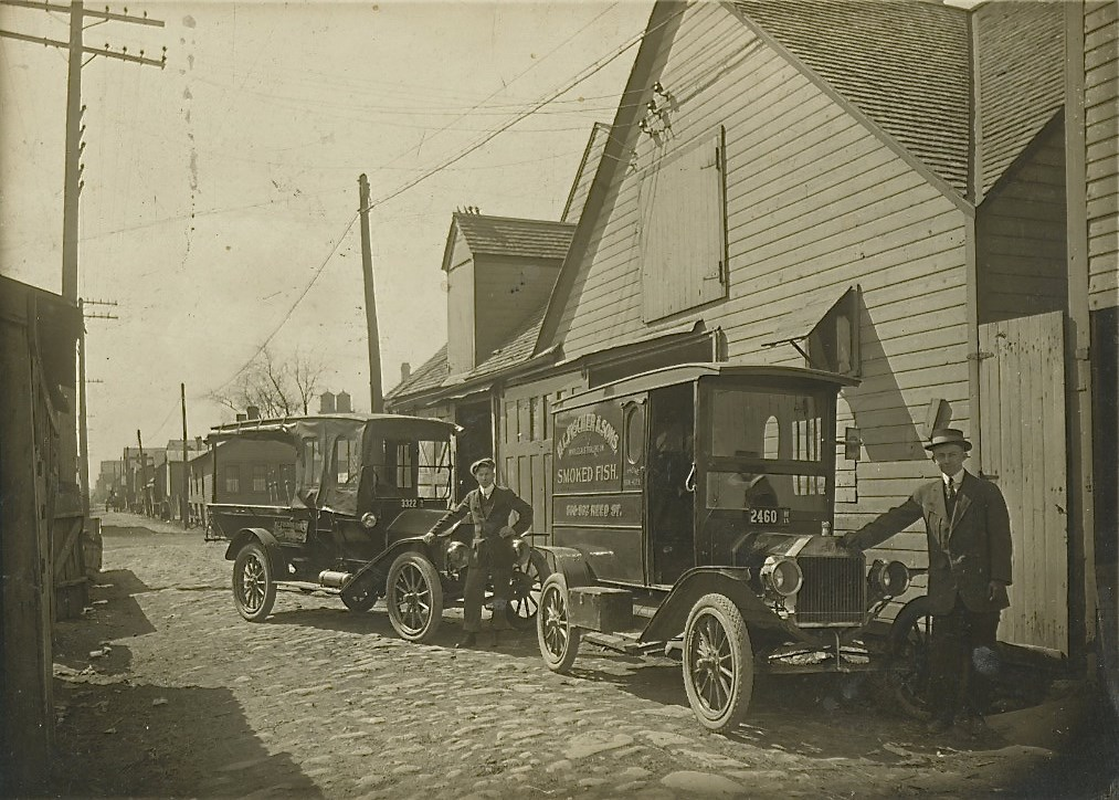 Smoked Fish Delivery Truck, 1915. Image courtesy of Jeff Beutner.