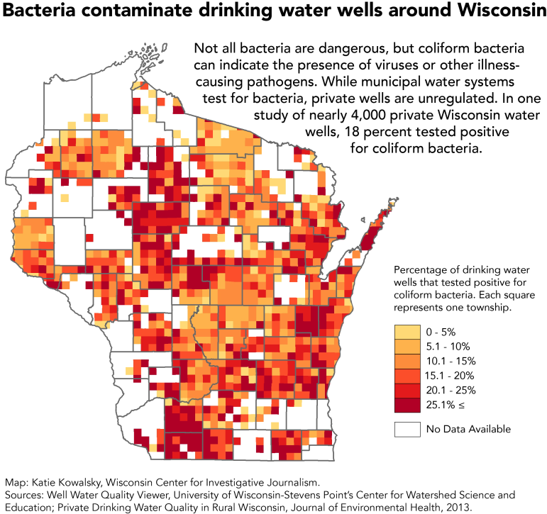 Bacteria contaminate drinking water wells around Wisconsin