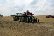 Manure is spread during a demonstration. Photo by Carolyn Betz of the University of Wisconsin Sea Grant Institute.