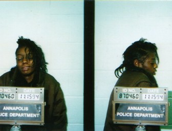 A mugshot from the Annapolis Police Department in Maryland shows Tonier Cain on Nov. 15, 1994. Cain blames childhood victimization for her crack addiction, 19 years living on the streets and 83 arrests. Her life was transformed after she was treated for her childhood trauma, Cain says. Photo courtesy of Healing Neen Inc.