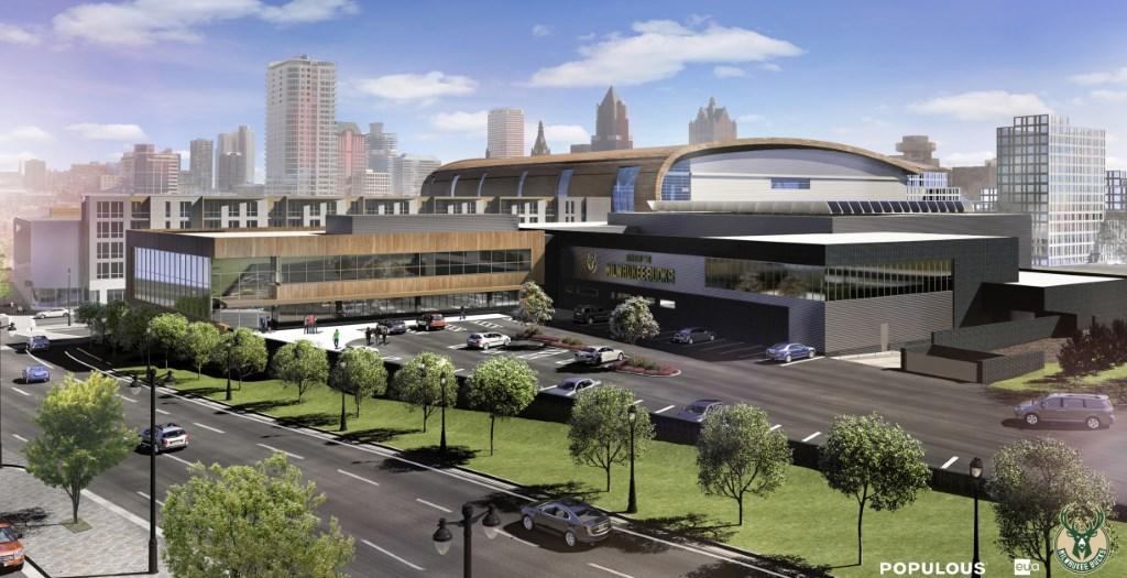 New Bucks Arena, Training Facility and Parking Garage.