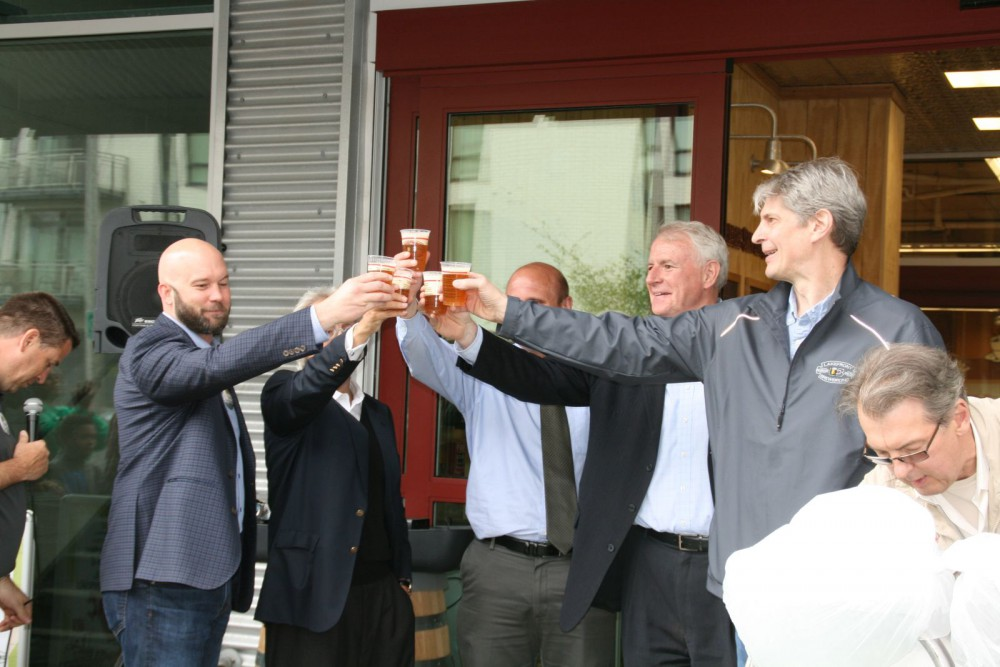 Beer instead of a ribbon cutting?