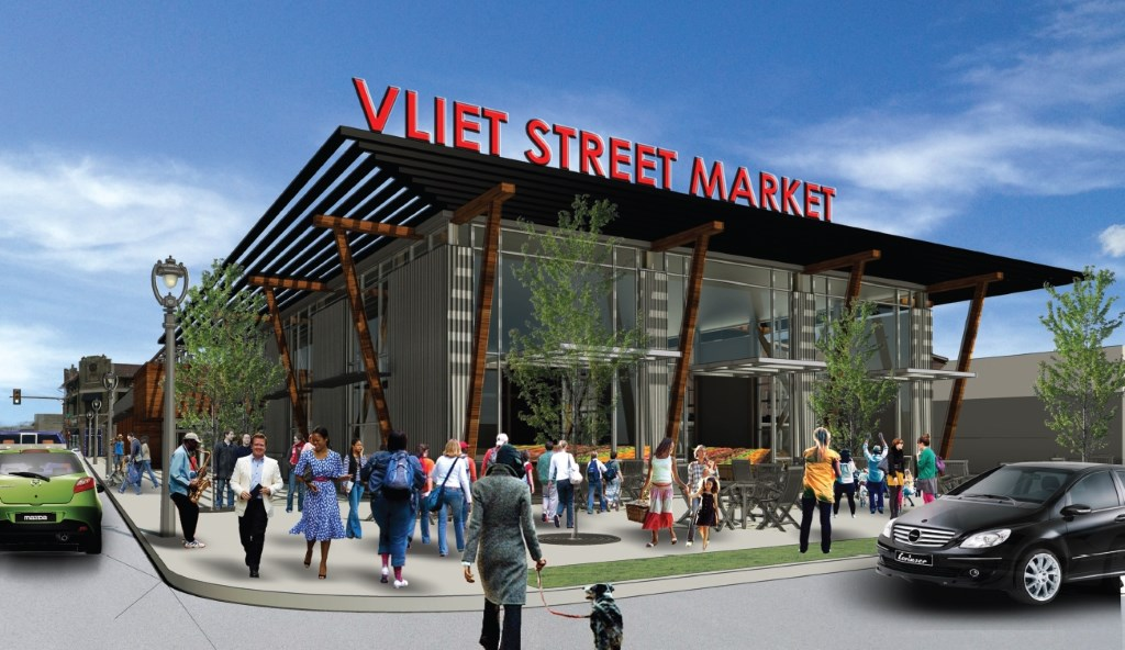 Vliet Street Market. Rendering by  Engberg Anderson Architects.