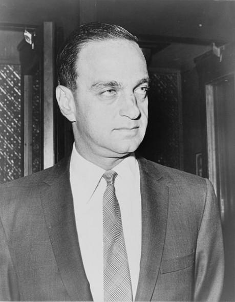 Roy Cohn. Photo by New York World-Telegram and the Sun staff photographer: Hiller, Herman, photographer. [Public domain], via Wikimedia Commons