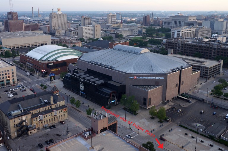 The portion of 4th Street between West Juneau Avenue and West Highland Avenue is northeast of the BMO Harris Bradley Center. Photo by Adam Carr.